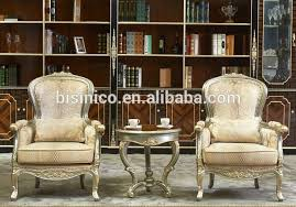 Luxury And Royal Living Room Sofa ChairSolid Wood Tea Table And - Single chairs living room
