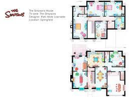 simpsons house floor plan tv s most famus floor plans