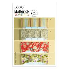 butterick window valances pattern b6003 size osz discount