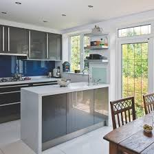 Grey Kitchen Cabinets For Sale Modern Dark Grey Kitchen With High Gloss Cabinets Dark Grey Gloss