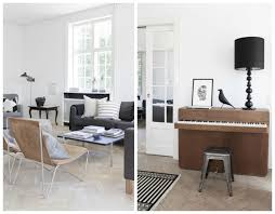 scandinavian living room in neutral tones that piano living