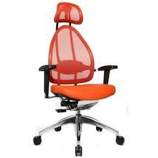 siege mal de dos siège de bureau ergonomique spécial mal de dos orange sièges et