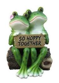statue happy frog gift decor home garden