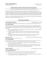 Commercial Real Estate Resume Resume Commercial Real Estate Resume