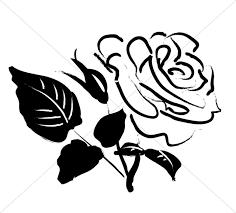 rose blossom sketch church rose clipart