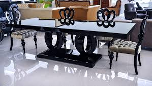 What An Elegance To Have A Black Dining Table Decorexinteriorscom - Black lacquer dining room set