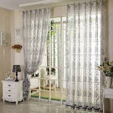Grey Sheer Curtains Floral Living Room Grey Patterned Sheer Curtains