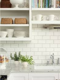 Dress Your Kitchen In Style With Some White Subway Tiles - Subway tile in kitchen backsplash
