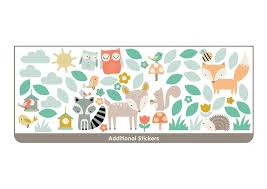 wallpops woodland tree and friends 69 piece wall decal set woodland tree and friends 69 piece wall decal set