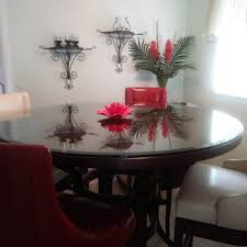 clear glass table top glass table top 46 inch round flat polished tempered