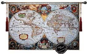 Map Tapestry Amazon Com Beautiful World Map Antique Iii 65
