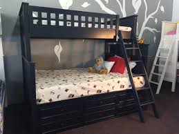 Campground Collection Twin Over Full Bunk Bed With Captain Drawers - Navy bunk beds