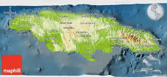 jamaica physical map physical 3d map of jamaica darken