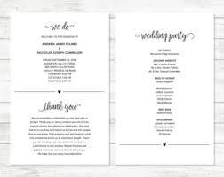 simple wedding program silhouette wedding program