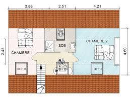 surface d une chambre 35 de surface habitable dans le comble de cette maison de l eure 27
