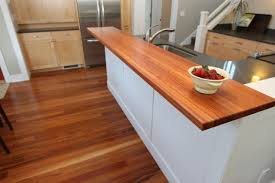 wooden kitchen worktops white granite countertop gray floor tiles