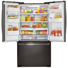 Refrigerator Lg French Door Lg Lfx25973d 24 1 Cu Ft French Door Bottom Freezer Refrigerator