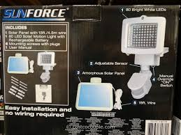 Costco Led Outdoor Lights Furniture Sunforce Led Solar Motion Light Costco Outdoor Lights