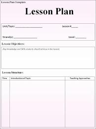 fillable lesson plan template u2013 calendar