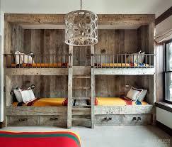 Rustic Bunk Bed Rustic Country Bunk Room Features Built In Barnwood Bunk Beds