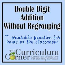 Double Facts Worksheets Double Digit Addition W O Regrouping The Curriculum Corner 123