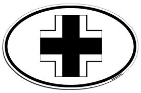 german iron cross insignia luftwaffe roundel ww2 panzer tank oval