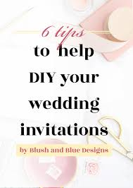 wedding help 6 tips to help with your diy wedding invitations blush blue
