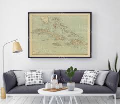 The Bahamas Map Old Map Of The Bahamas Historic Bahama Map 1888 Antique Old
