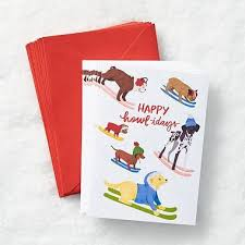 happy howlidays dogs boxed cards paper source