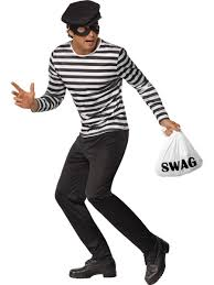 halloween costume robber mens bank robber thief cat burglar fancy dress costume stag do