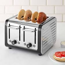 Calphalon 4 Slot Stainless Steel Toaster Dualit Design Series 4 Slice Toaster Williams Sonoma