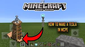 how to make a tesla in mcpe minecraft pe youtube