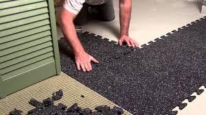 rubber tile flooring basement bathroom decors ideas