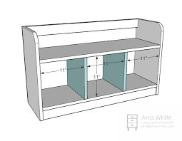Free Entryway Storage Bench Plans by Ana White Perfect Cubby Bench Diy Projects