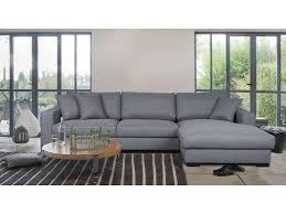 canapé d angle fixe canapé d angle fixe droit 5 places en tissu winson coloris gris