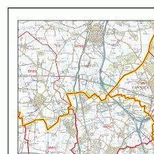 Birmingham England Map by Birmingham B Postcode Wall Map Xyz Maps