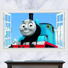 Thomas The Tank Wall Mural Buy Thomas Sticker Wall And Get Free Shipping On Aliexpress Com