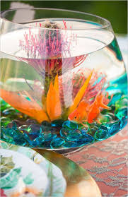 fish bowl centerpieces outstanding colorful wedding ideas colorful wedding centerpieces