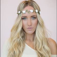 white flower headband 73 accessories flower headband white floral crown boho