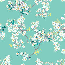 Cherry Blossom Upholstery Fabric Agf Knit Cherry Blossom Fabric Cotton Fabric Jersey Knit Fabric