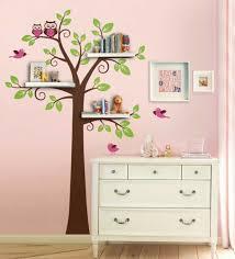 stickers arbre chambre fille design interieur stickers arbre étagères murales hiboux chambre