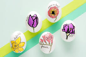 make these floral easter eggs in 5 easy steps brit co