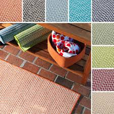Outdoor Rug 3x5 Hooked Dolly Contemporary Geometric Indoor Outdoor Area Rug