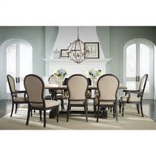 two tone dining table set furniture two tone dining table with trestle basestandard