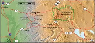 maps lassen volcanic national park u s national park service