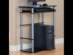small black computer desk 20 mainstays walmart computer stand youtube