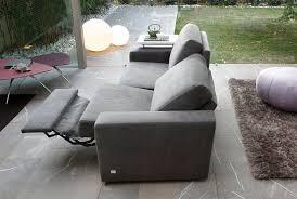 Reclining Fabric Sofa Contemporary Sofa Fabric 2 Seater Reclining Elvis Doimo