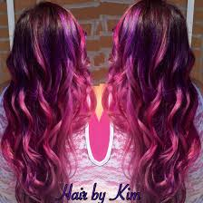 purple to pink color melt done with pravana vivids hair by kim