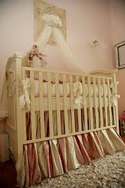Custom Crib Bedding Sets Custom Bedding In Pink And Ivory Silk Dupioni Kid S Room