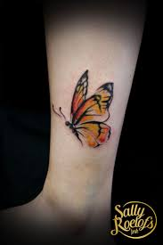 small butterfly tattoos on ankle best 25 colorful butterfly tattoo ideas on pinterest amazing 3d
